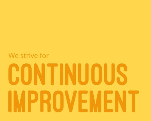 Values - We strive for Continuous Improvement