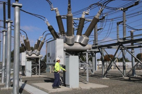 An employee at an SCE substation