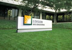 Edison International monument sign